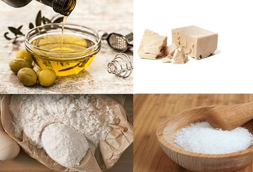 ingredientes para pan