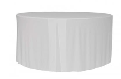 faldón para mesa redonda