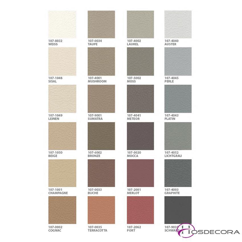 carta de colores de tapizado