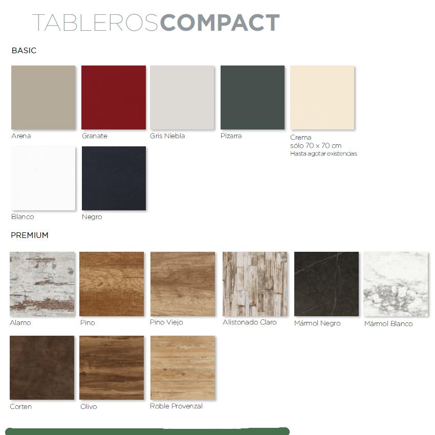 colores de tablero compact