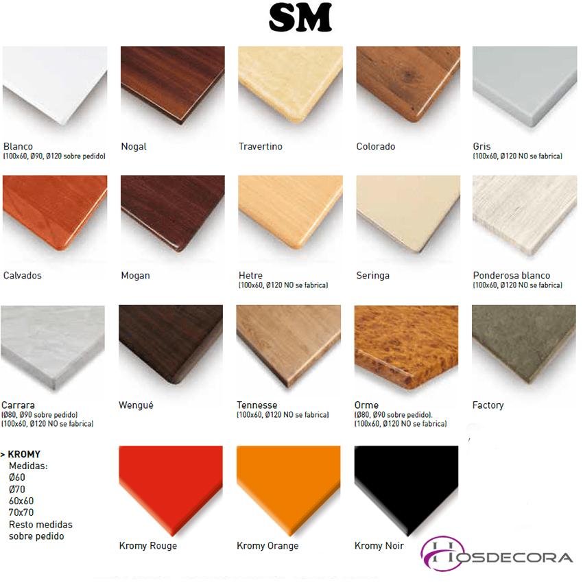 colores de tablero de SM