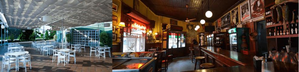 mesas y sillas para bares y cafeterías