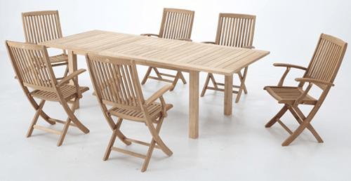 muebles de madera de exterior